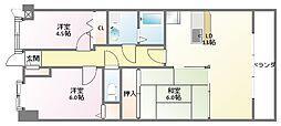 プラザハイツ二ッ屋[1階]の間取り
