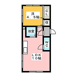 木犀ビル[2階]の間取り