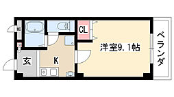愛知県名古屋市緑区大清水3丁目の賃貸マンションの間取り