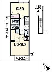 プーゼ D棟[2階]の間取り