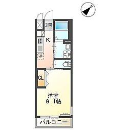 JR山陽本線 大門駅 徒歩10分の賃貸アパート 1階1Kの間取り