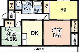 レインボーハウス有秋台西C36棟[1階]の間取り