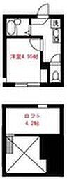 Elua西横浜B棟[203号室]の間取り