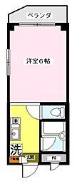 テラス美奈川[2階]の間取り