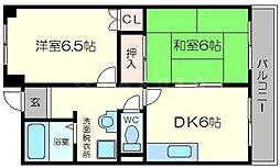 新大阪ロイヤルハイツ[7階]の間取り