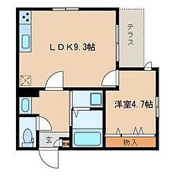 maison de K[101号室]の間取り