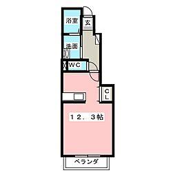 アンジェの郷B[1階]の間取り