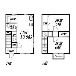 [テラスハウス] 静岡県浜松市南区若林町 の賃貸【/】の間取り