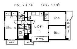 メゾンピアヴィクトアール[5階]の間取り