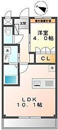 エトワール大和田[101号室]の間取り