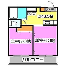 東京都西東京市西原町5丁目の賃貸マンションの間取り