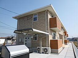 岡山県総社市地頭片山の賃貸アパートの外観
