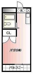 クロスロード清水[8階]の間取り