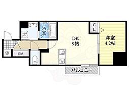 JR東海道・山陽本線 東淀川駅 徒歩1分の賃貸マンション 7階1DKの間取り