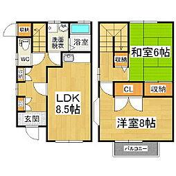 [テラスハウス] 長野県松本市寿北3丁目 の賃貸【/】の間取り