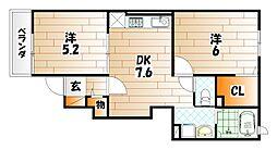 フェイバーサイドI[1階]の間取り