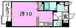 メゾンドール錦町 2階ワンルームの間取り
