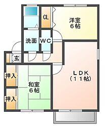 ピュアドーム II[2階]の間取り