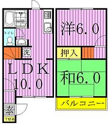 [テラスハウス] 千葉県流山市東初石3丁目 の賃貸【/】の間取り