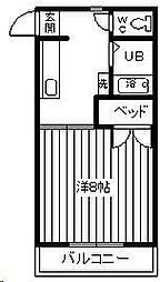 コスモス101[105号室]の間取り