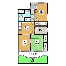 サンライズ田宗II[1階]の間取り