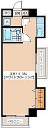 蓮沼パークハイツ[5階]の間取り