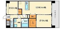 メゾンド江坂[1階]の間取り