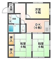 静岡県田方郡函南町塚本の賃貸アパートの間取り