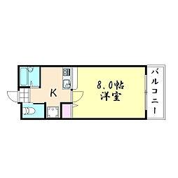 安田ハイツ[1階]の間取り