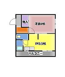 西明石サンライズマンション[3階]の間取り