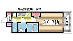 プレサンスTHE神戸[507号室]の間取り