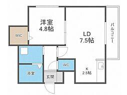 MODENA・TOYOHIRA 4階1LDKの間取り