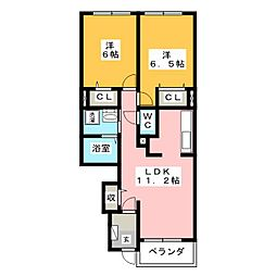 サニースクエア[1階]の間取り
