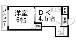 ロータリーマンション萱島[0105号室]の間取り