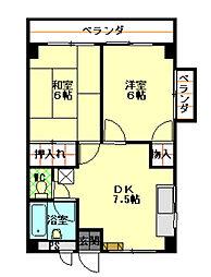 柳沢マンション[303号室]の間取り
