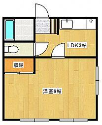 平野第一ビル[3階]の間取り