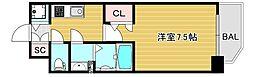 エスレジデンス大阪九条ノース 8階1Kの間取り