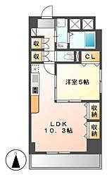 プレステージ新栄[4階]の間取り