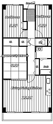 フローラ稲毛[2階]の間取り
