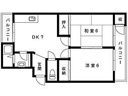 天神住宅[13号室]の間取り