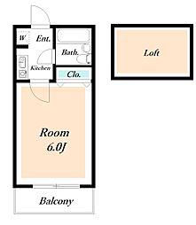 ローズアパートQ64[206号室]の間取り