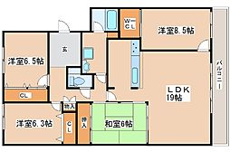 兵庫県神戸市西区竹の台6丁目の賃貸マンションの間取り