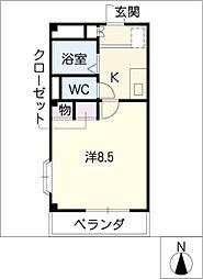エル・A・M[4階]の間取り