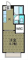 東京都町田市金井町の賃貸アパートの間取り
