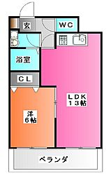 藤和川口本町コープ[6階]の間取り