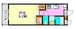 LEO弐拾弐番館[206号室]の間取り