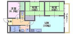 ラ・ヨード24[5階]の間取り