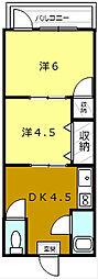 第5ヤマトコーポ[2階号室]の間取り