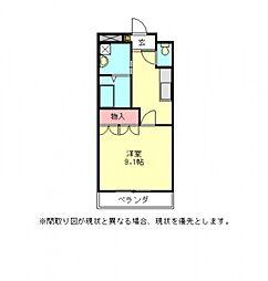 愛知県一宮市宮地2丁目の賃貸アパートの間取り