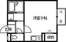 ハイツアミヨ[203号室]の間取り